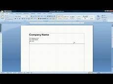 How To Design Letterhead In Word How To Create A Letterhead In Microsoft Word 2007 Youtube