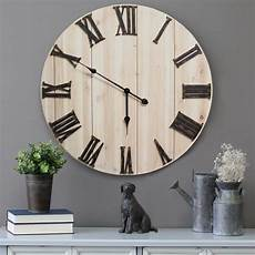 home decor clocks distressed white wood wall clock stratton home decor