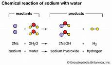 Chemical Equation For Water Sodium Hydroxide Students Britannica Kids Homework Help