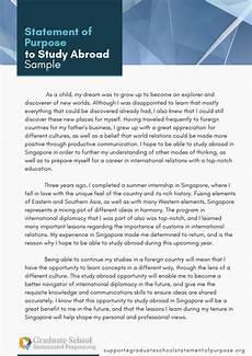Statement Of Purpose For Grad School Examples Statement Of Purpose Study Abroad Example And Reliable Help