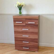 chest of 4 2 drawers in walnut effect bedroom furniture