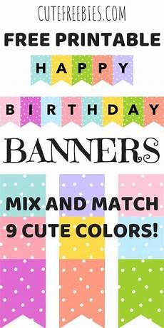Free Happy Birthday Banner Printables Happy Birthday Banners Buntings Free Printable