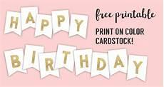 Free Happy Birthday Banner Printables Happy Birthday Banner Printable Template Paper Trail Design