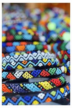 beadwork african detailed beadwork in a craft market stock images