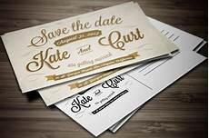 Invitation Postcard Template Vintage Wedding Invitation Postcard Wedding Templates