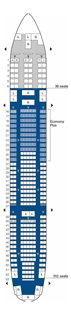 United Airlines Seating Chart 777 International United Airlines Boeing 777 200 Intl Jet Seating Map