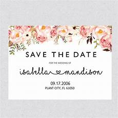 Free Printable Save The Date Templates Printable Save The Date Template Card Floral Save The Date
