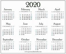 Download Yearly Calendar 2020 Download 2020 Calendar Templates Pdf