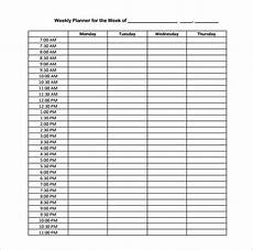 Hourly Daily Planner Free 5 Cute Daily Weekly Hourly Planner Template Source