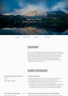 Resume Writer Service Freelance Writer Resume Samples And Templates Visualcv