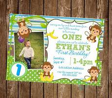 Monkey Birthday Invitations Monkey Invitation Monkey Birthday Invitation Monkey