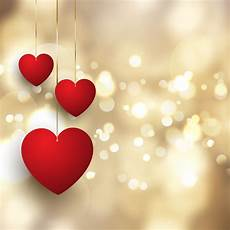 Valentines Day Backgrounds S Day Background With Hanging Hearts On Bokeh