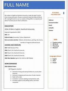 Download Cv Template For Freshers Resume Format To Download For Freshers