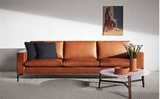 new standard 92 quot modern leather sofa dot