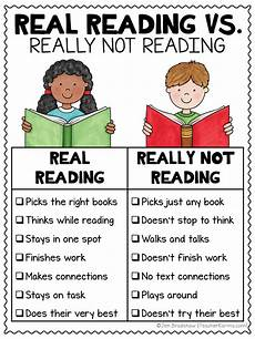 Struggling Readers Chart Real Reading Vs Really Not Reading Anchor Charts Teacher