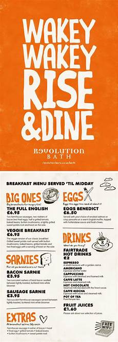 Breakfast Menu Layout Breakfast Menu Colourful Graphic Design Menu By Www