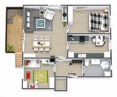 2 Bedroom Flat Floor Plans 10 Awesome Two Bedroom Apartment 3d Floor Plans Amazing