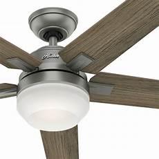 Aireryder Ceiling Fan Light Kit Hunter Fan 54 Inch Contemporary Matte Silver Ceiling Fan