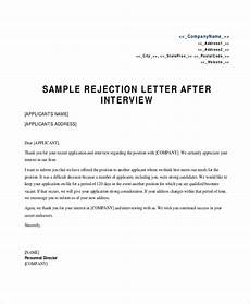 Rejection Letter Template Free 10 Sample Rejection Letter Templates In Pdf Ms