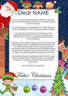 A Letter From Santa Template Create A Personalised Christmas Letter From Santa