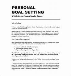 Example Of Goals Free 12 Sample Goal Setting Templates In Pdf Ms Word