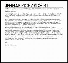Counselor Cover Letter Samples School Counselor Cover Letter Sample Cover Letter