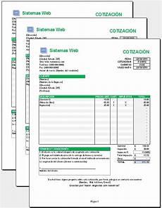 Formato Para Cotizacion En Word Excel Plantilla Cotizacion 50 00 En Mercado Libre