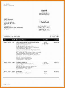 Bill For Services 6 Bill Format For Professional Services Sample Travel Bill