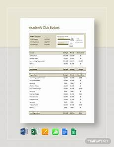 Club Budget Template Academic Club Budget Template Download 164 Budget