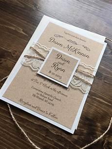 Rustic Country Wedding Invitations Rustic Wedding Invitation Vintage Wedding Invitation