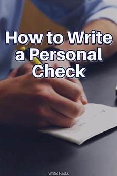 How To Write A Resu 6 Easy Steps To How To Write A Personal Check