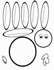 Turkey Printable Template Scissor Cutting Turkey Template Therapy Fun Zone