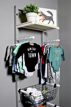 newborn clothes rack baby clothes rack storage diy for nursery gray house studio