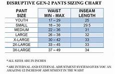 Big And Size Chart Pants Disruptive Paintball Pants