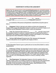 Contractor Contract Sample This Sample Agreement Offers A General Template To