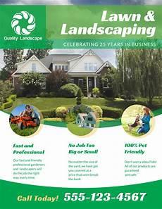 Landscape Flyer Template Landscaping Lawn Care Flyer Template Mycreativeshop