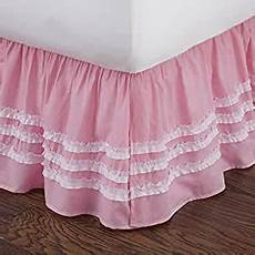 pink ruched bed skirt home kitchen