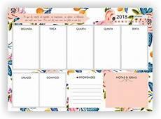 Agenda Semanal Planner De Mesa Semanal Planejador Floral Agenda R 30