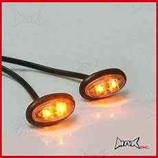 Amber Marker Lights Amber 12v Oval Flush Mount Led Mini Marker Lights Ebay