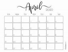 print calendar april 2020 30 best free printable april 2020 calendars onedesblog