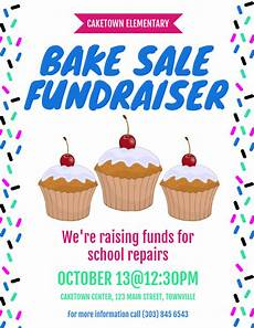 Bake Sale Poster Templates Free Bake Sale Fundraiser Flyer Template Postermywall