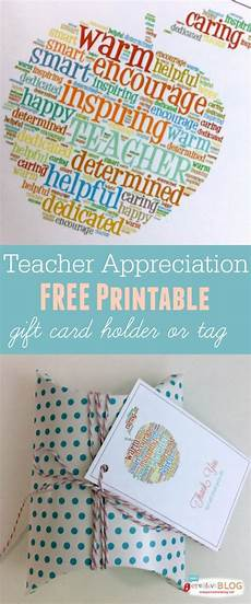 Free Printable Gift Cards Free Printable Teacher Appreciation Gift Card Holder