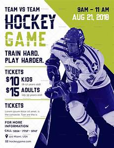 Hockey Flyer Template Hockey Game Flyer Design Template In Psd Word Publisher