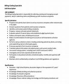 Medical Billing Duties Sample Medical Billing And Coding Job Description 9
