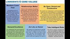 Values Examples Linkedin S 6 Core Values Explained Via Jeff Weiner Youtube