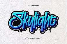 logo farve skylight graffiti display fonts creative market