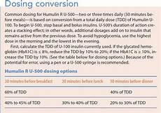 U500 Insulin Conversion Chart Diabetes Pharmacologic Management Update American Nurse