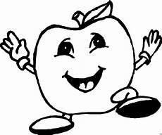 Ausmalbilder Lustiges Obst Lachender Apfel Ausmalbild Malvorlage Nahrung