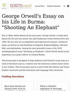 Orwell Essays Quot Shooting An Elephant Quot George Orwell S Essay On His Life