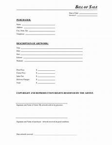 Free Printable Bill Of Sale Form Free Artwork Bill Of Sale Form Download Pdf Word